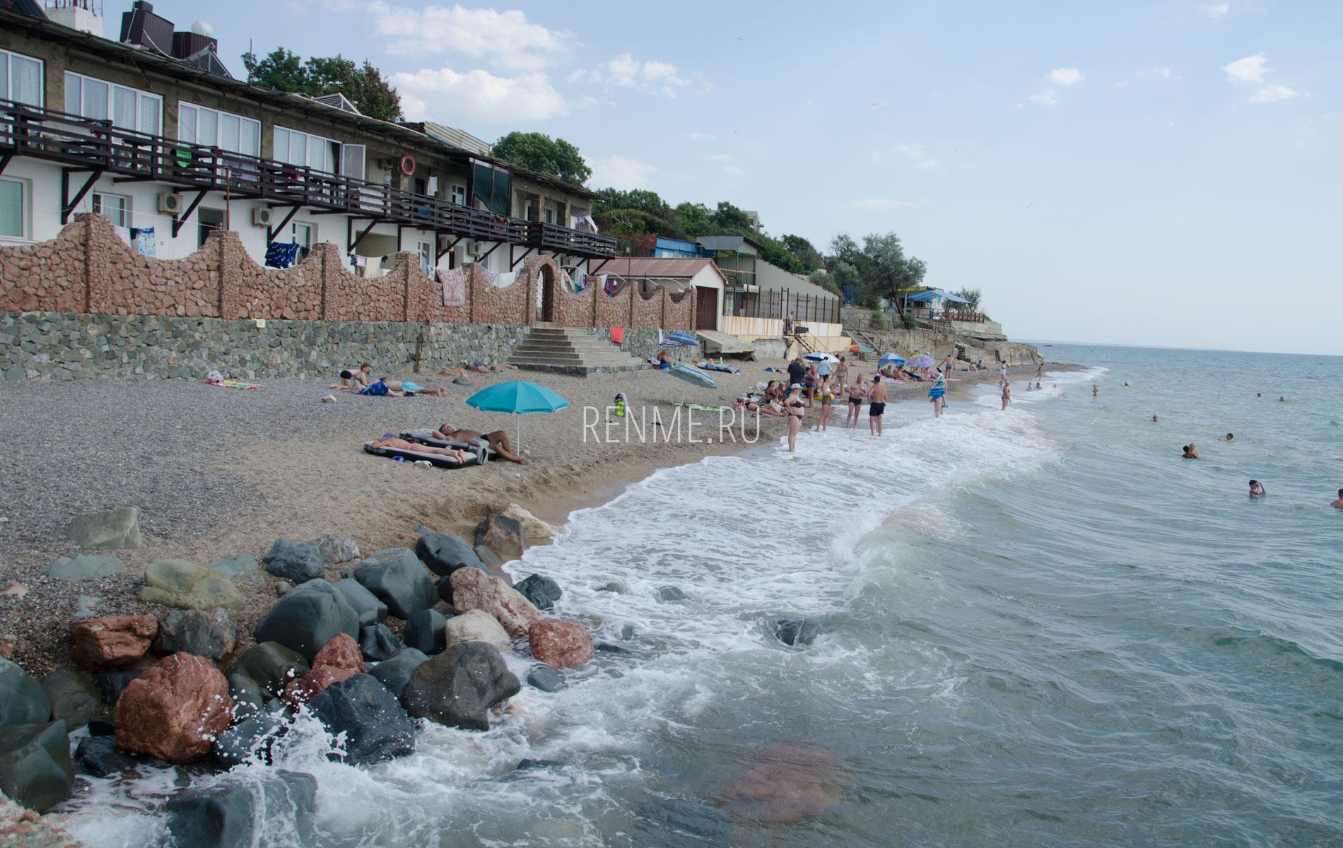 """Пляж """"Маяк"""" с буны. Фото Николаевки"""