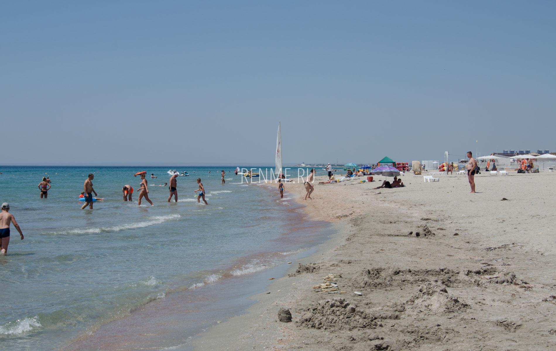 Песчаный пляж летний пляж. Фото Штормового
