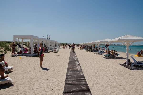 Пляж в Оленевке. Тарханкут. Фото Оленевки
