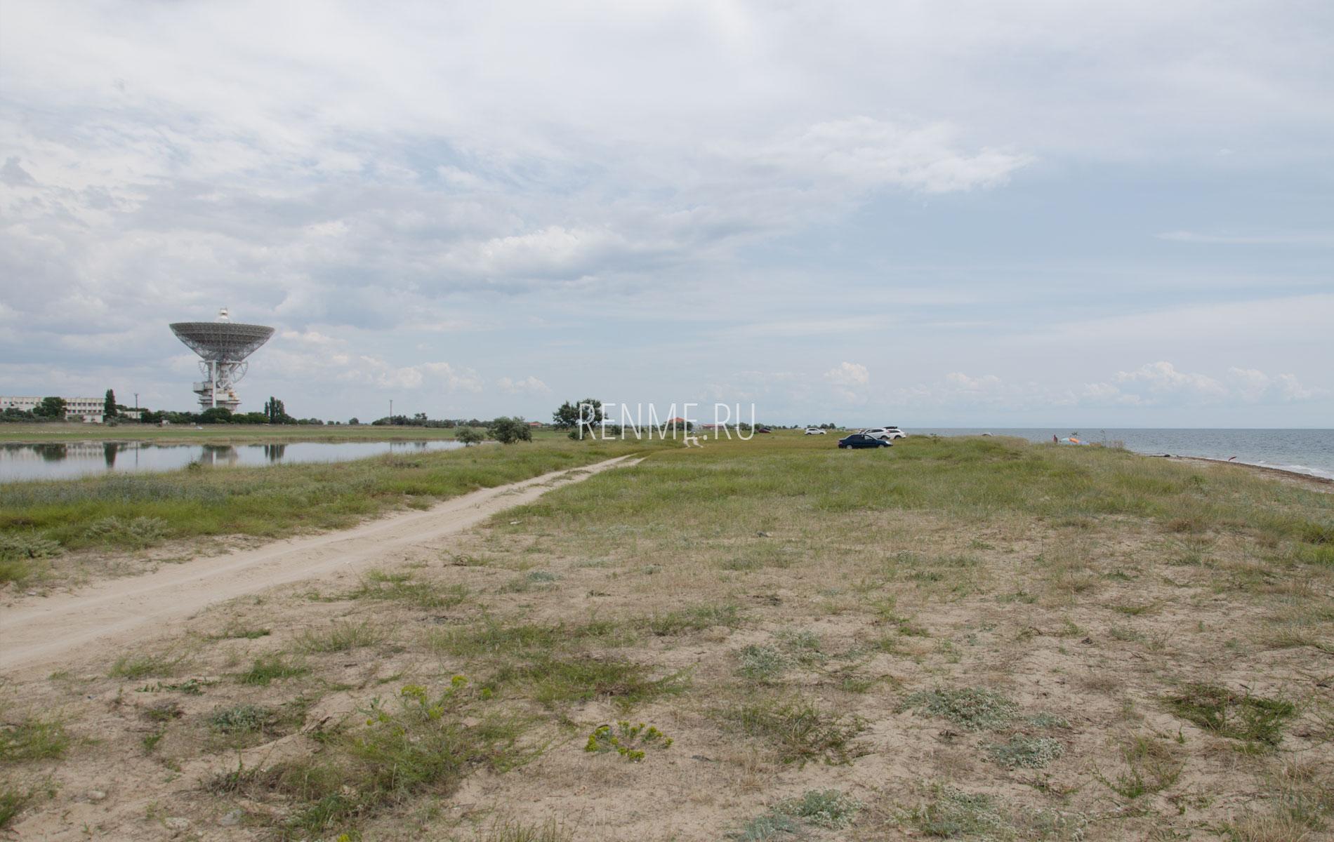 Дикий пляж рядом. Фото Молочного