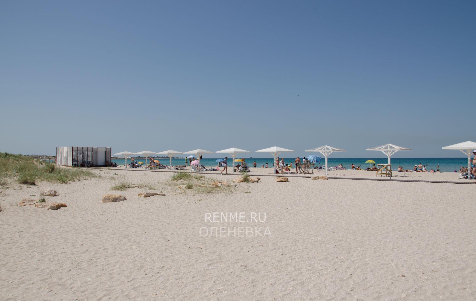 Пляж в Оленевке. Фото Оленевки