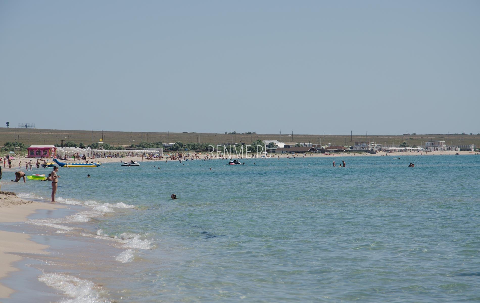 Теплое море в Крыму. Фото Оленевки