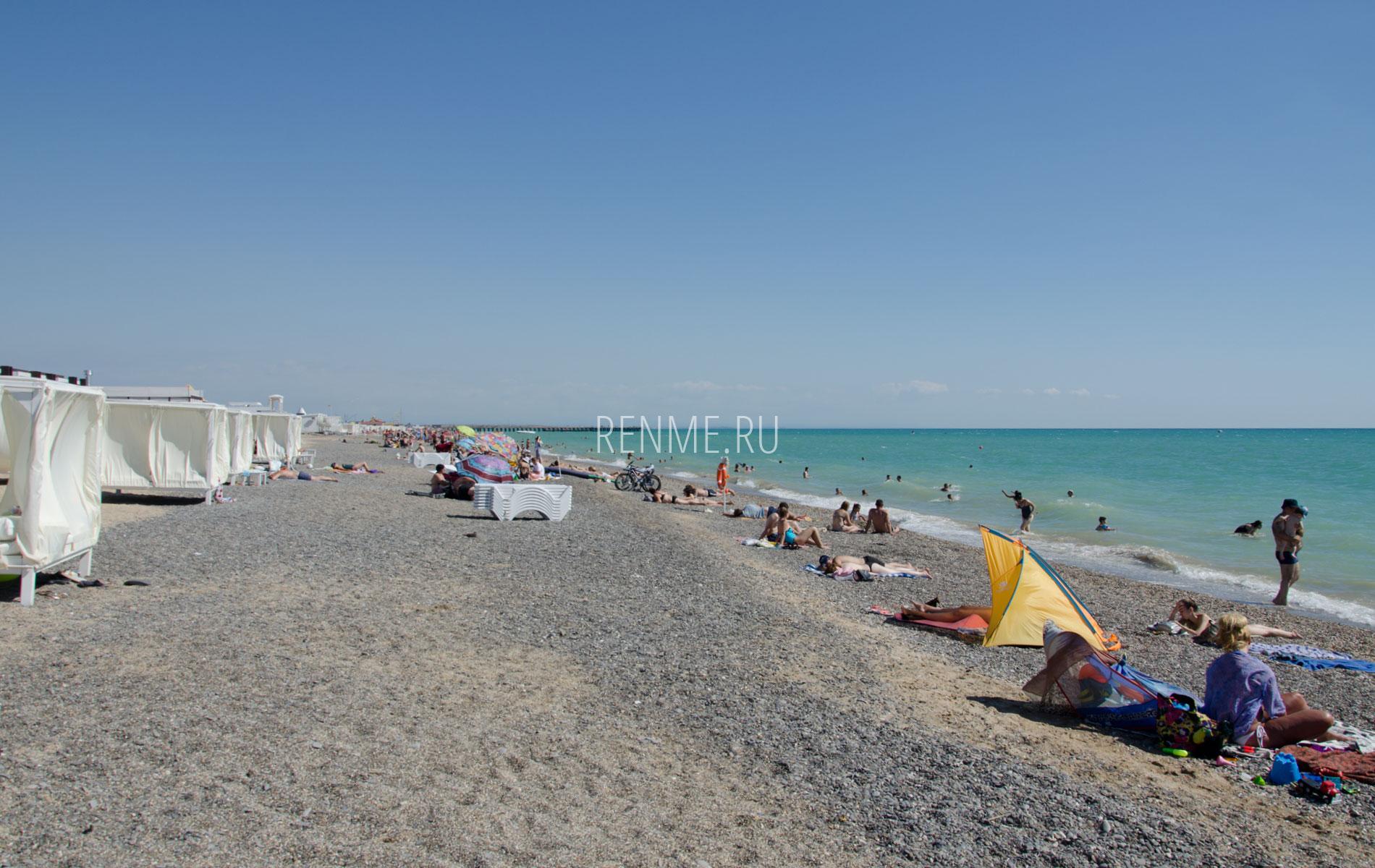 Пляж в хорошем качестве. Фото Новофедоровки