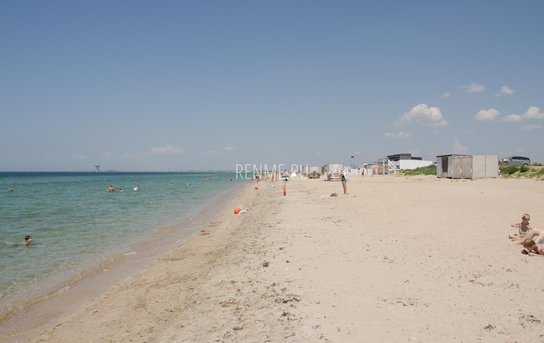 Оборудованные пляжи. Фото Заозёрного