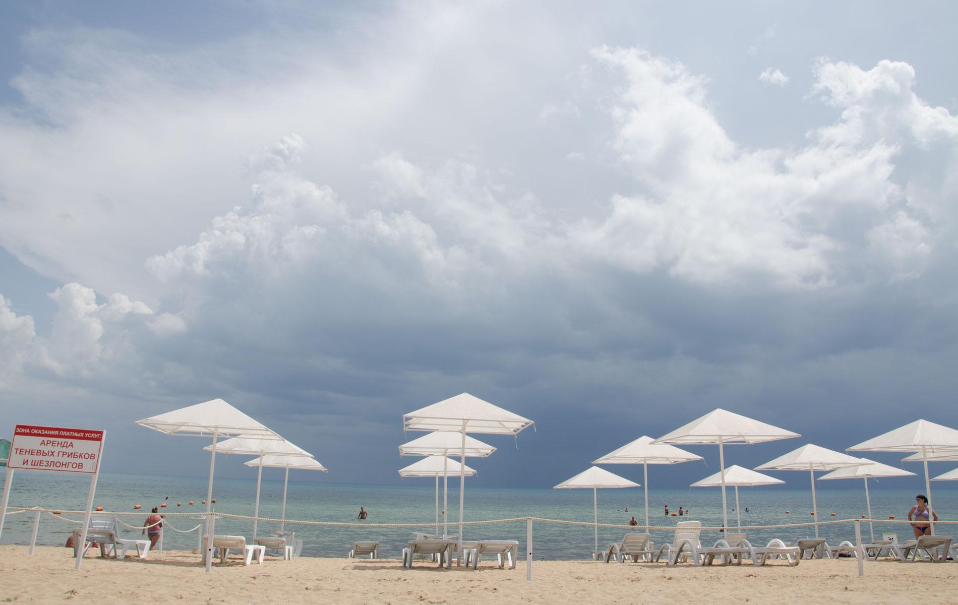 Пляж летом 2019 в Заозерном. Фото Заозёрного