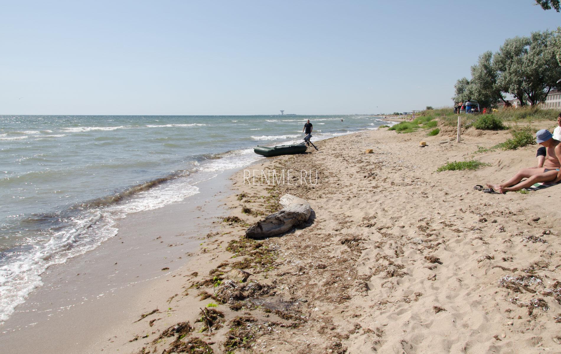 Песчаный дикий пляж. Фото Заозёрного