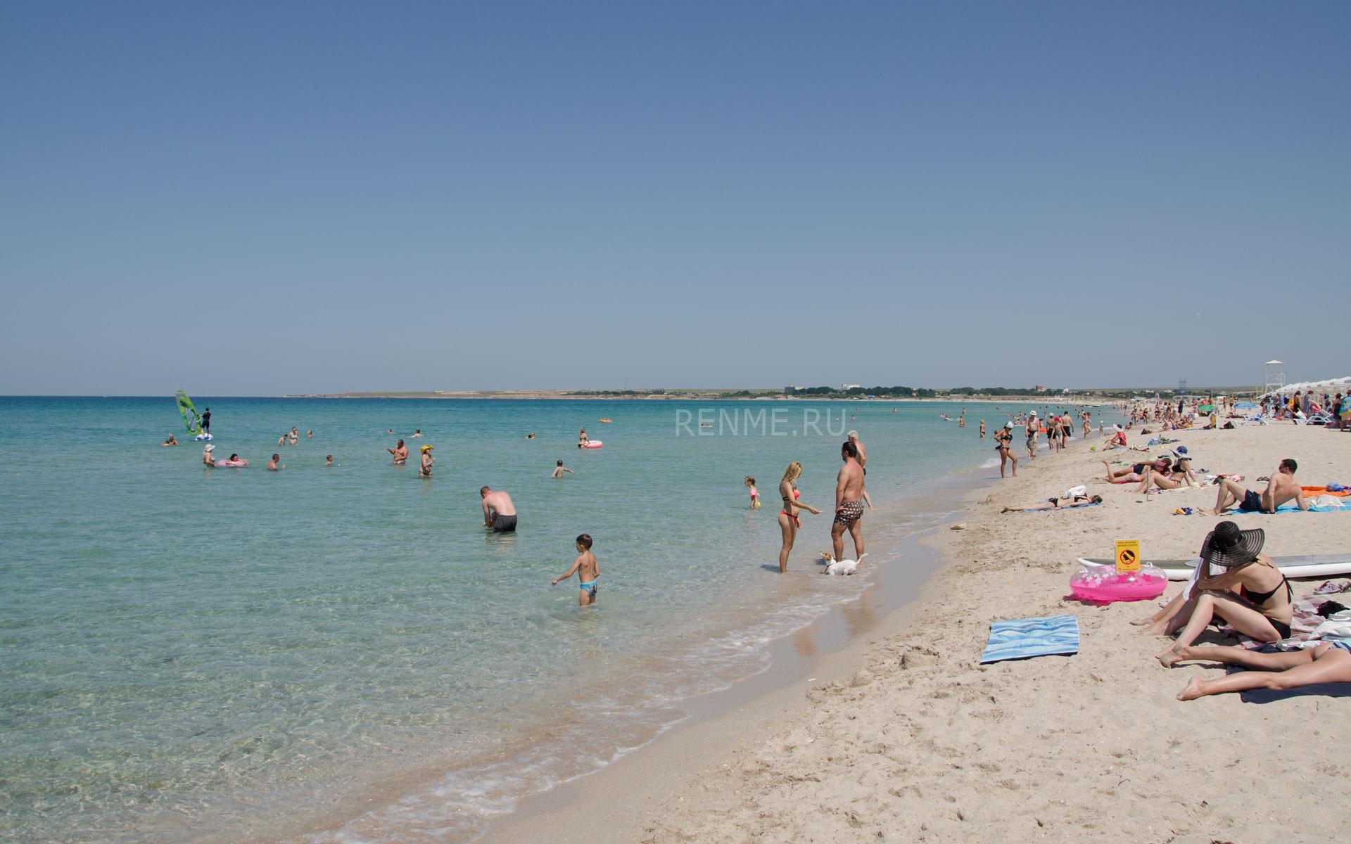 """Пляж """"Майами"""" в Оленевке летом 2019. Фото Оленевки"""