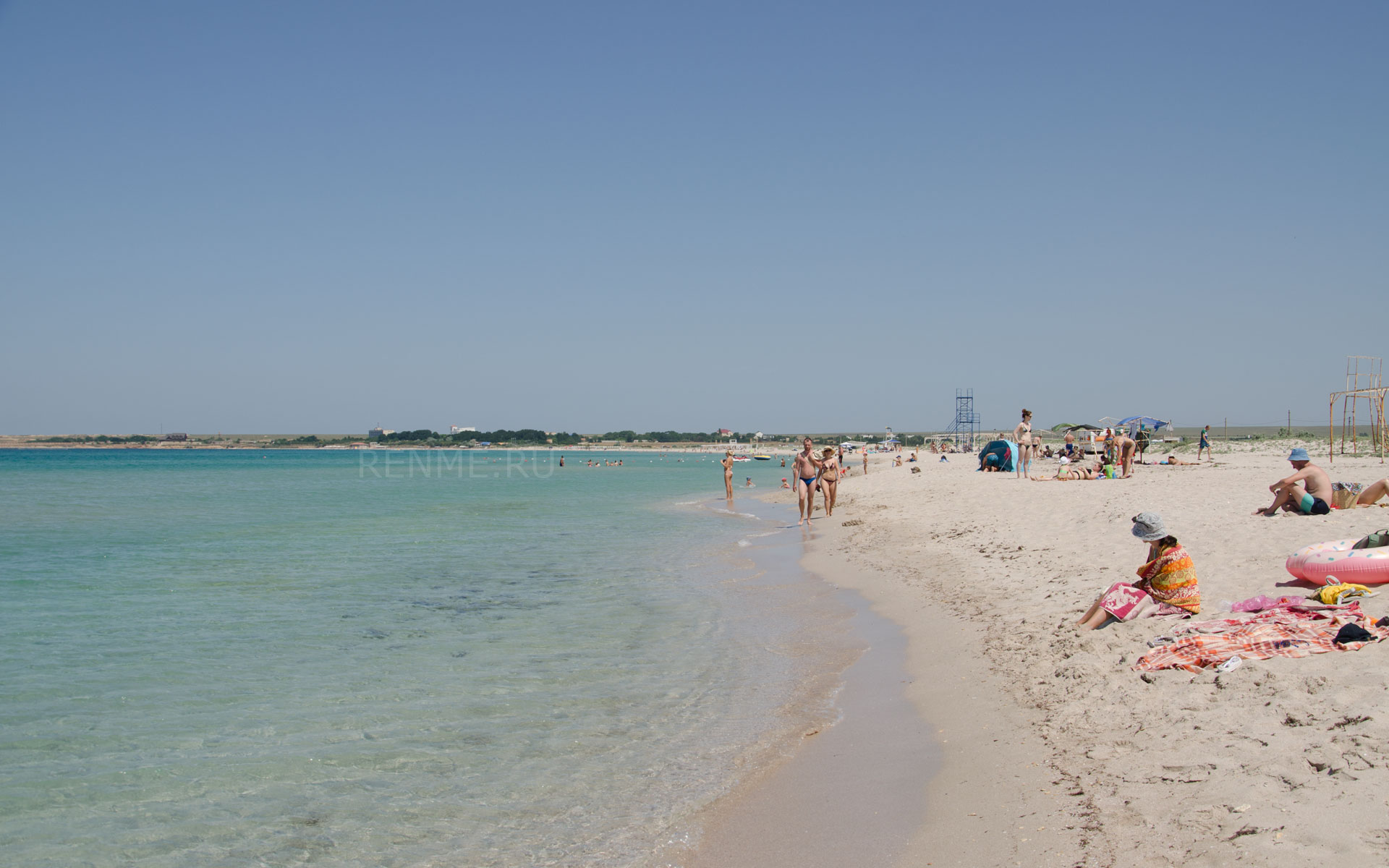 Песчаный пляж в Оленевке 2019. Фото Оленевки