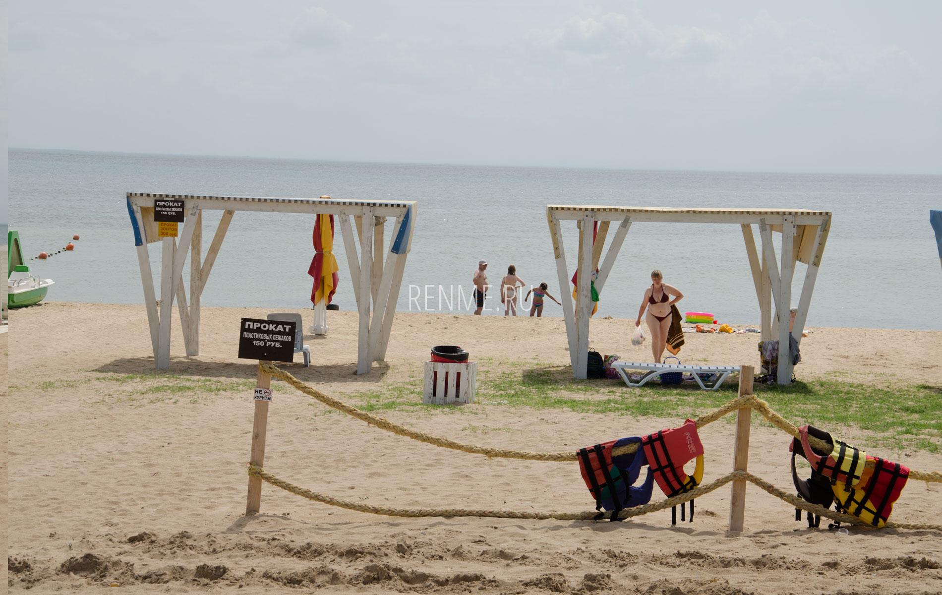 Море с песчаным пляжем. Фото Заозёрного