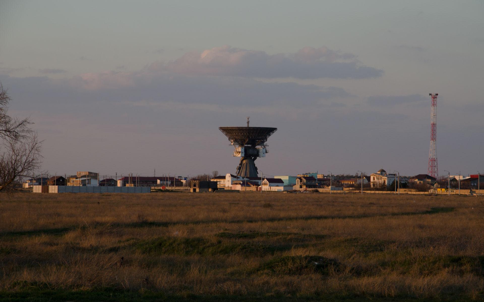 Радиотелескоп П-400. Фото Заозёрного