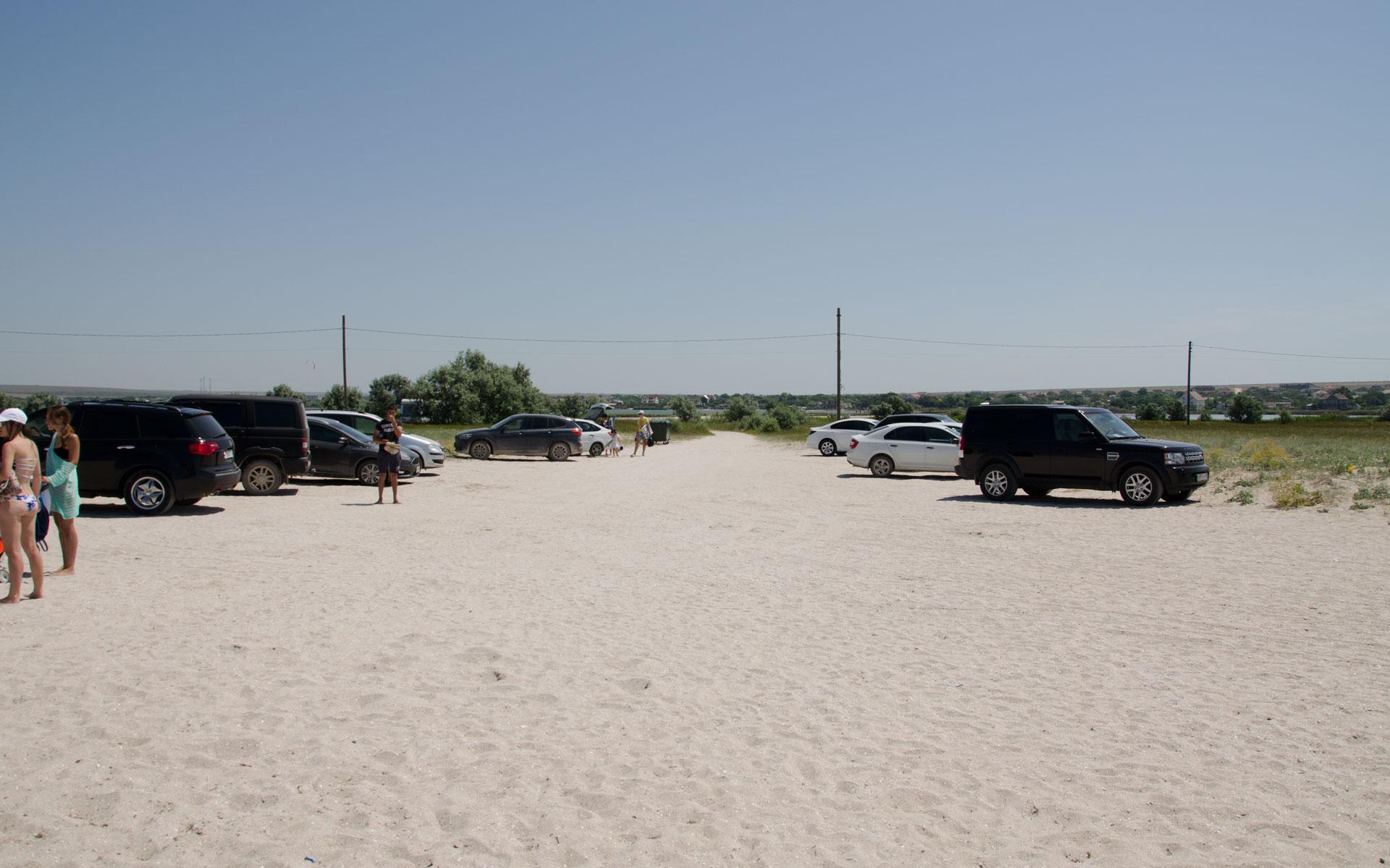 На пляж, на машине. Фото Оленевки