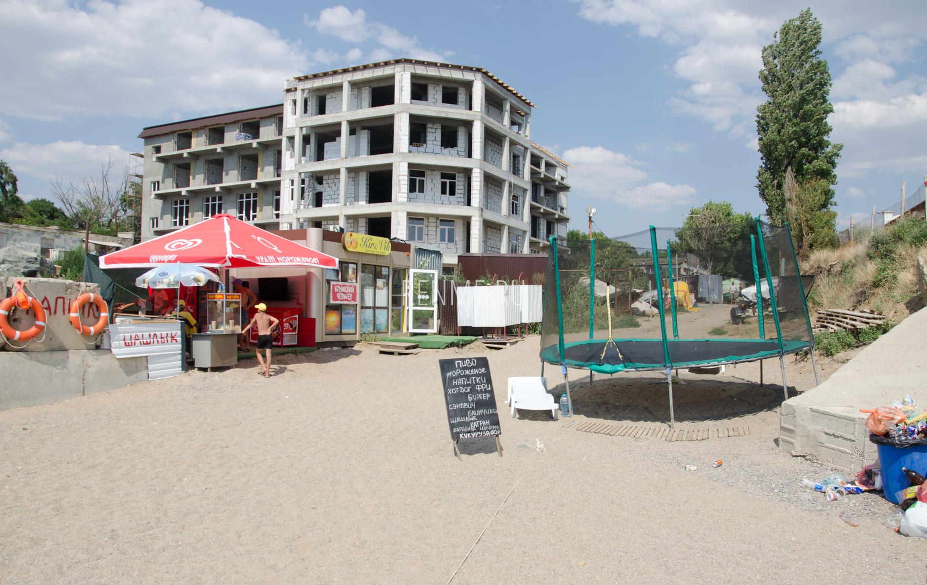 Шашлык, пиво на пляже. Фото Николаевки