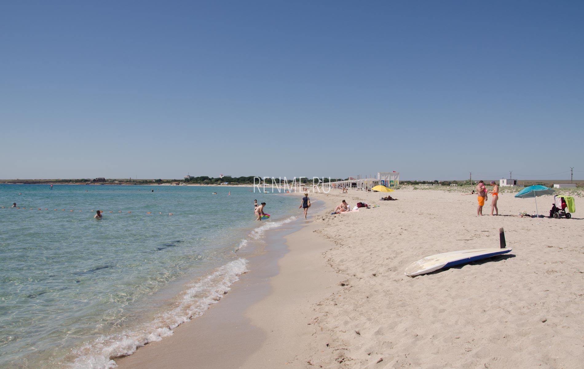 Там, где белый песок в Крыму. Фото Оленевки