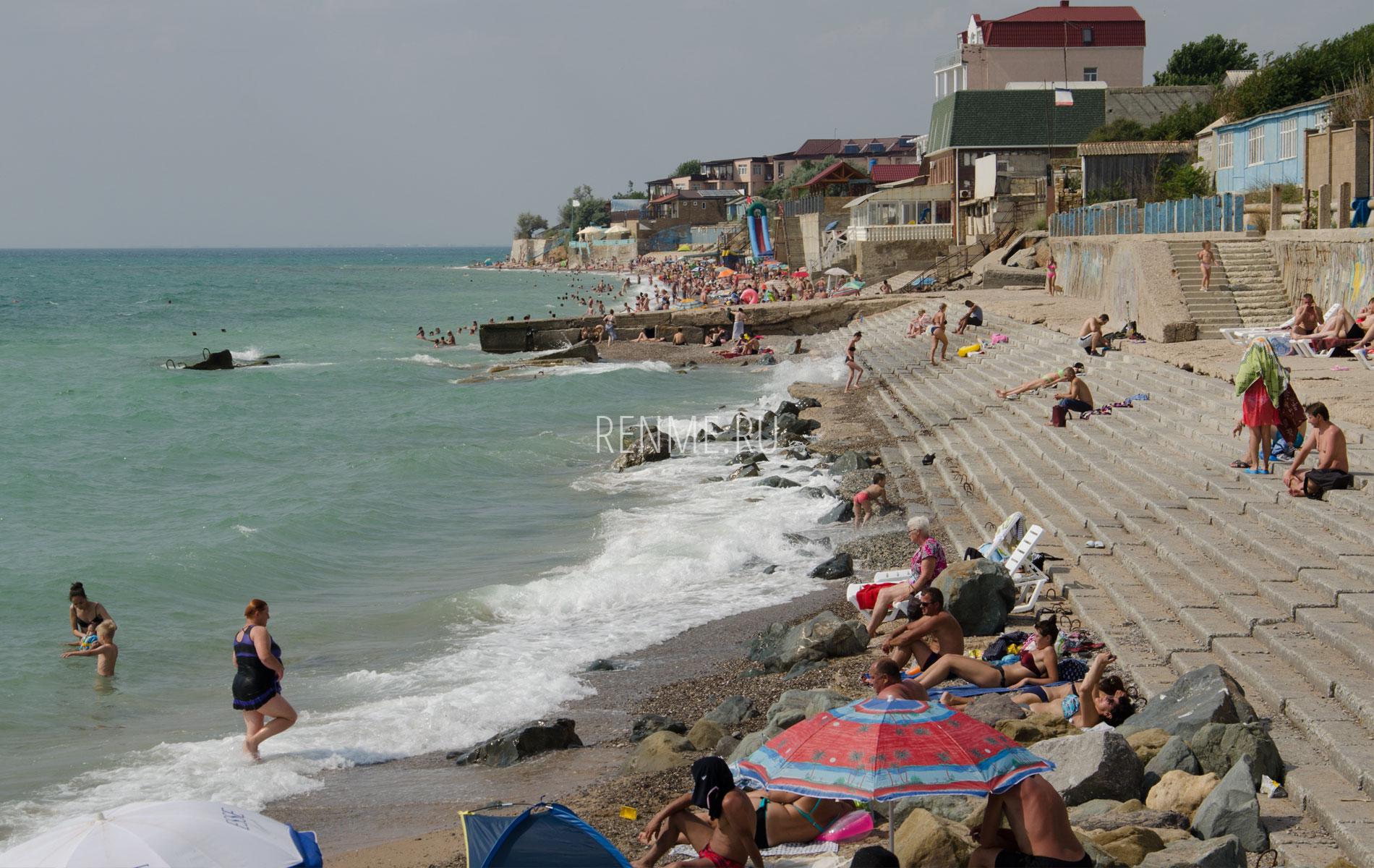 Пляжи Николаевки в июле 2019. Фото Николаевки