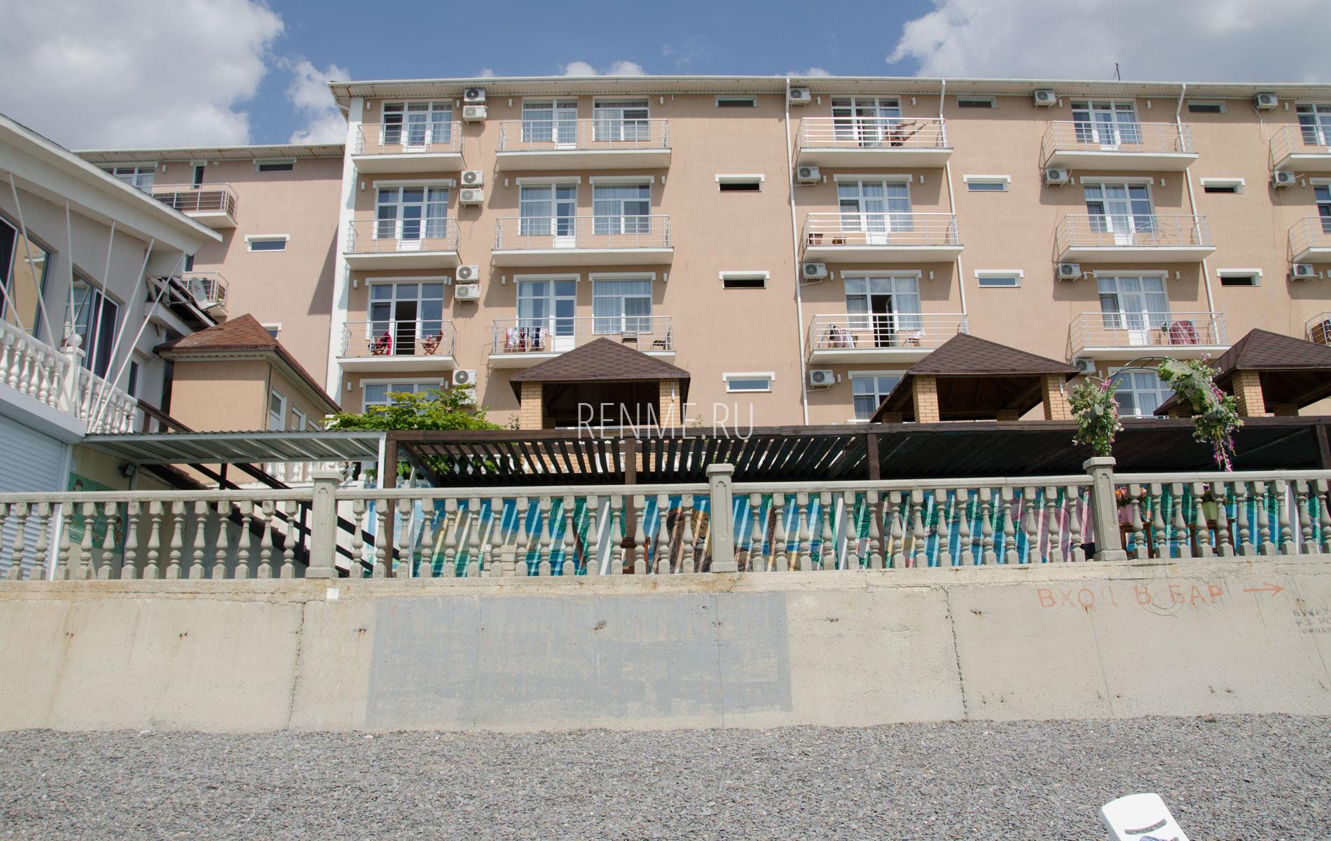 Отель на берегу моря в Николаевке. Фото Николаевки