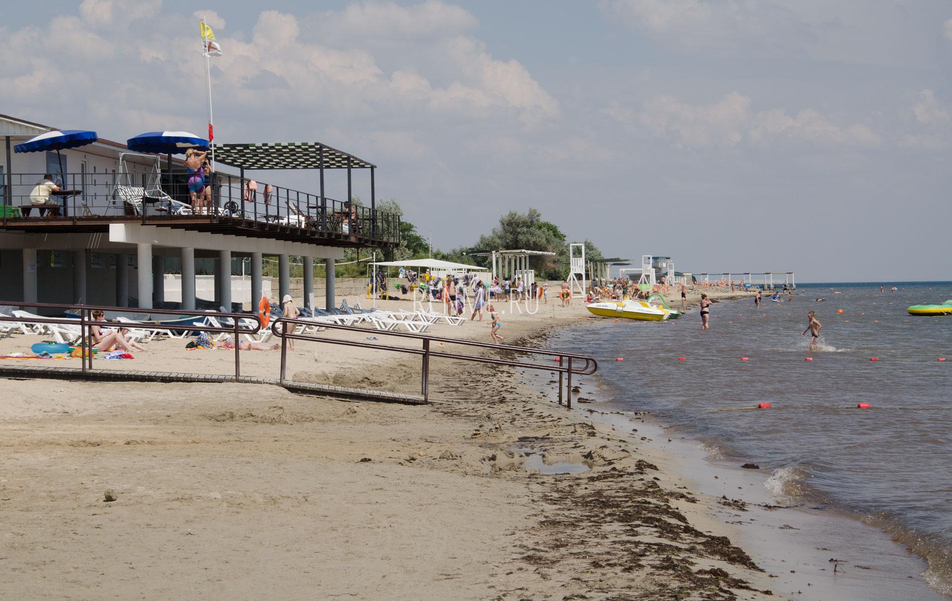 Пляжи ЛигаКлуб и Чайка. Фото Заозёрного