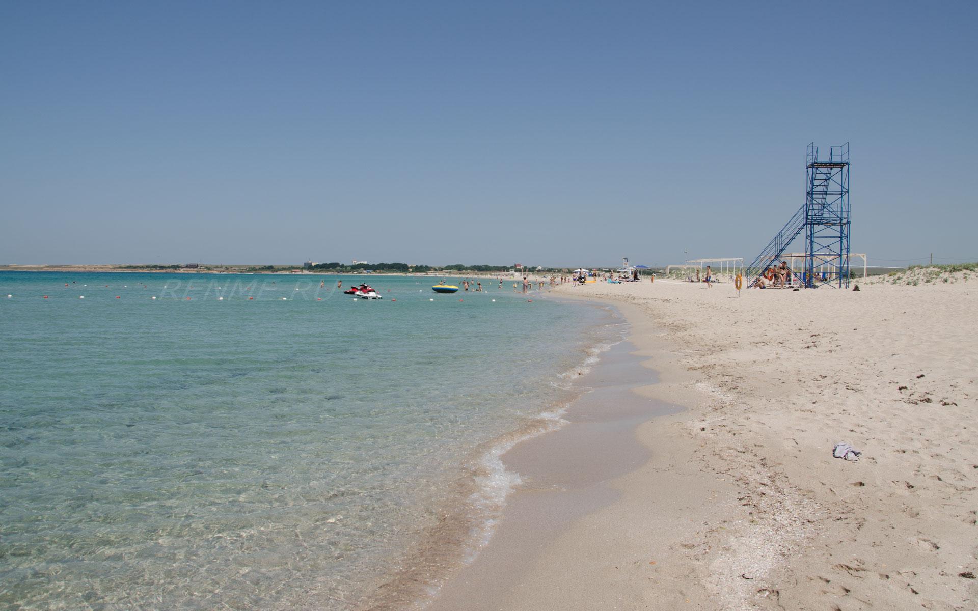 Лучший песчаный пляж. Фото Оленевки