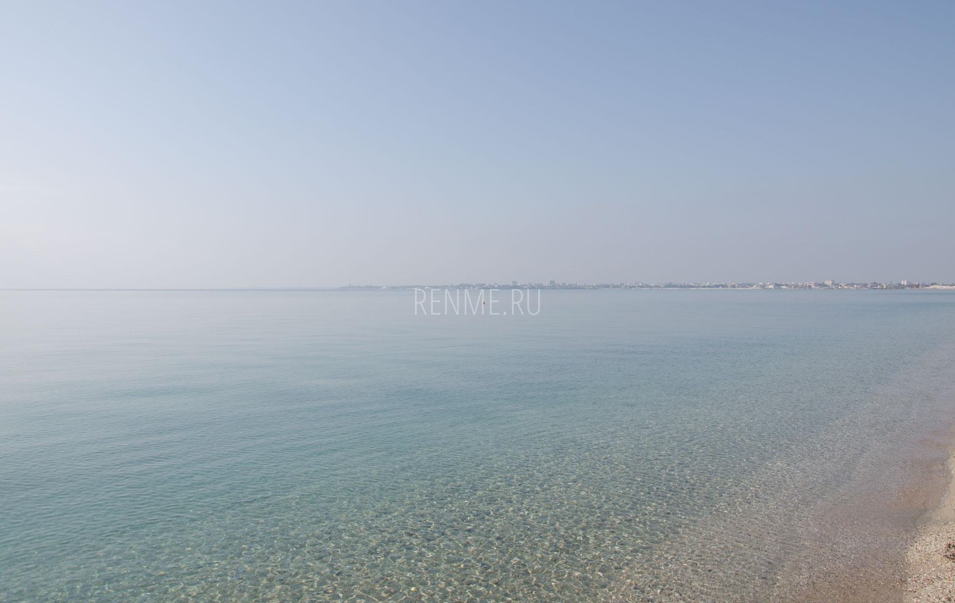 Море осенью 2019 в Евпатории. Фото Евпатории