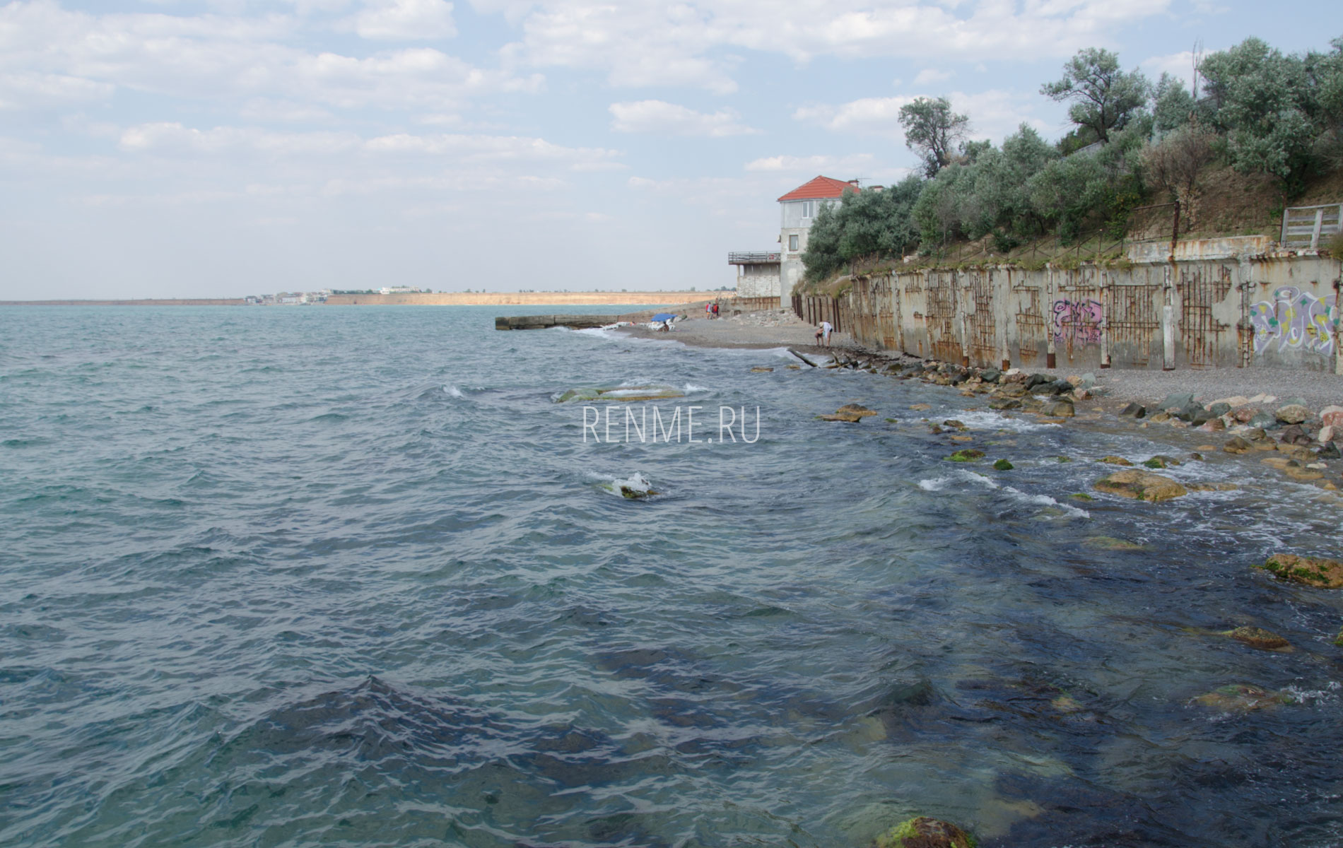 Берег Черного моря в Николаевке. Фото Николаевки