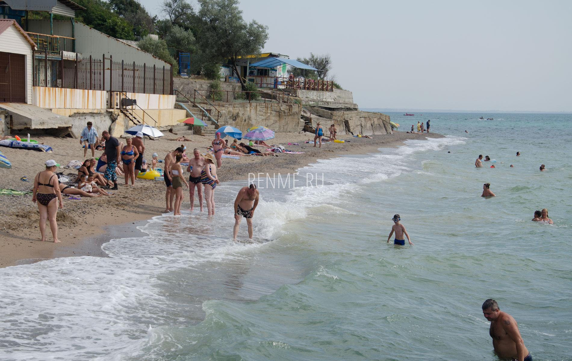 Пляжи Николаевки летом 2019. Фото Николаевки