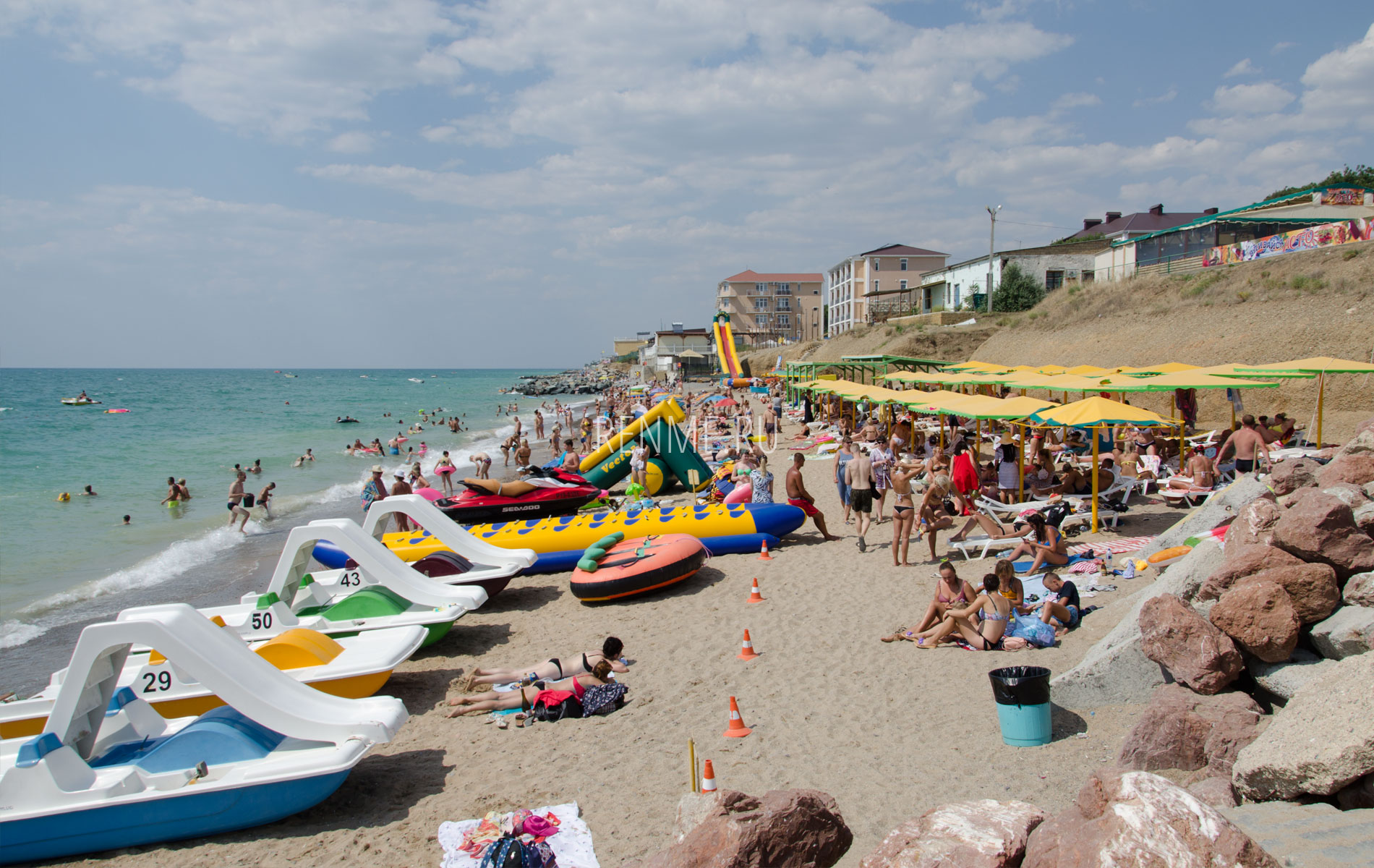 Пляж в поселке Николаевка 2019. Фото Николаевки