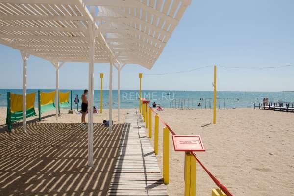 Пляж для слабовидящих. Пляжи Евпатории