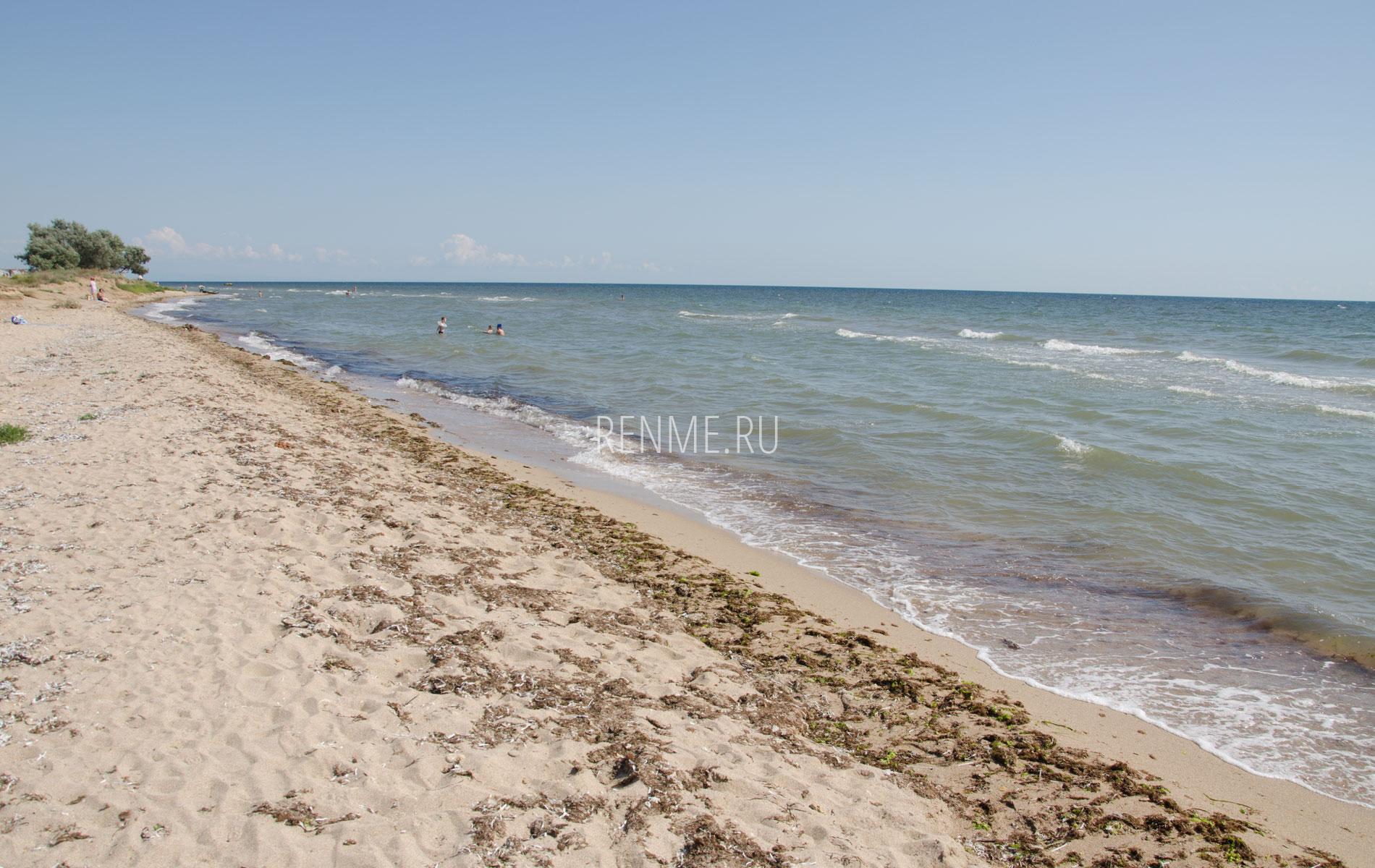 Дикий пляж в Заозерном летом 2019. Фото Заозёрного