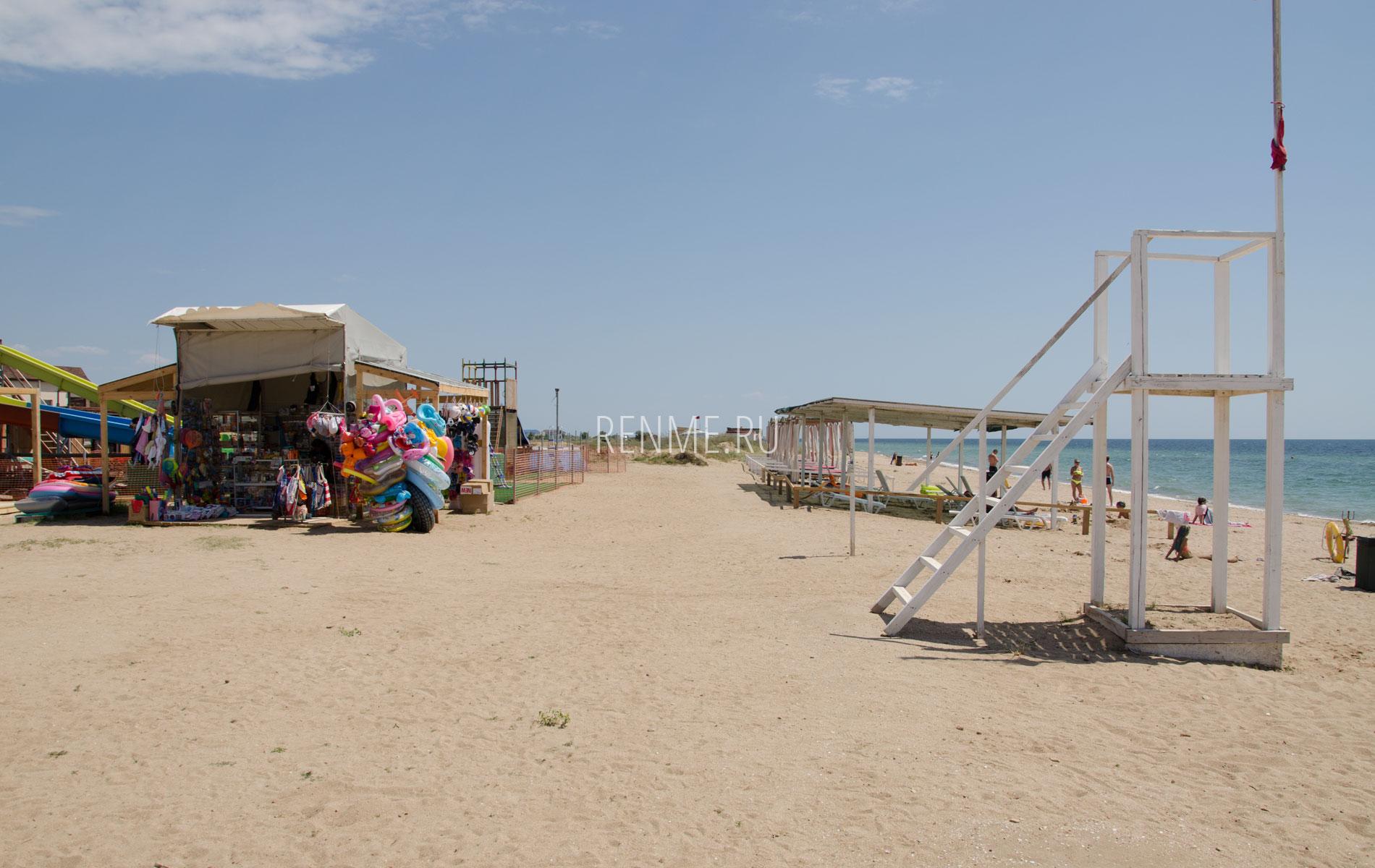 """Пляж """"Парадиз"""" летом. Фото Заозёрного"""