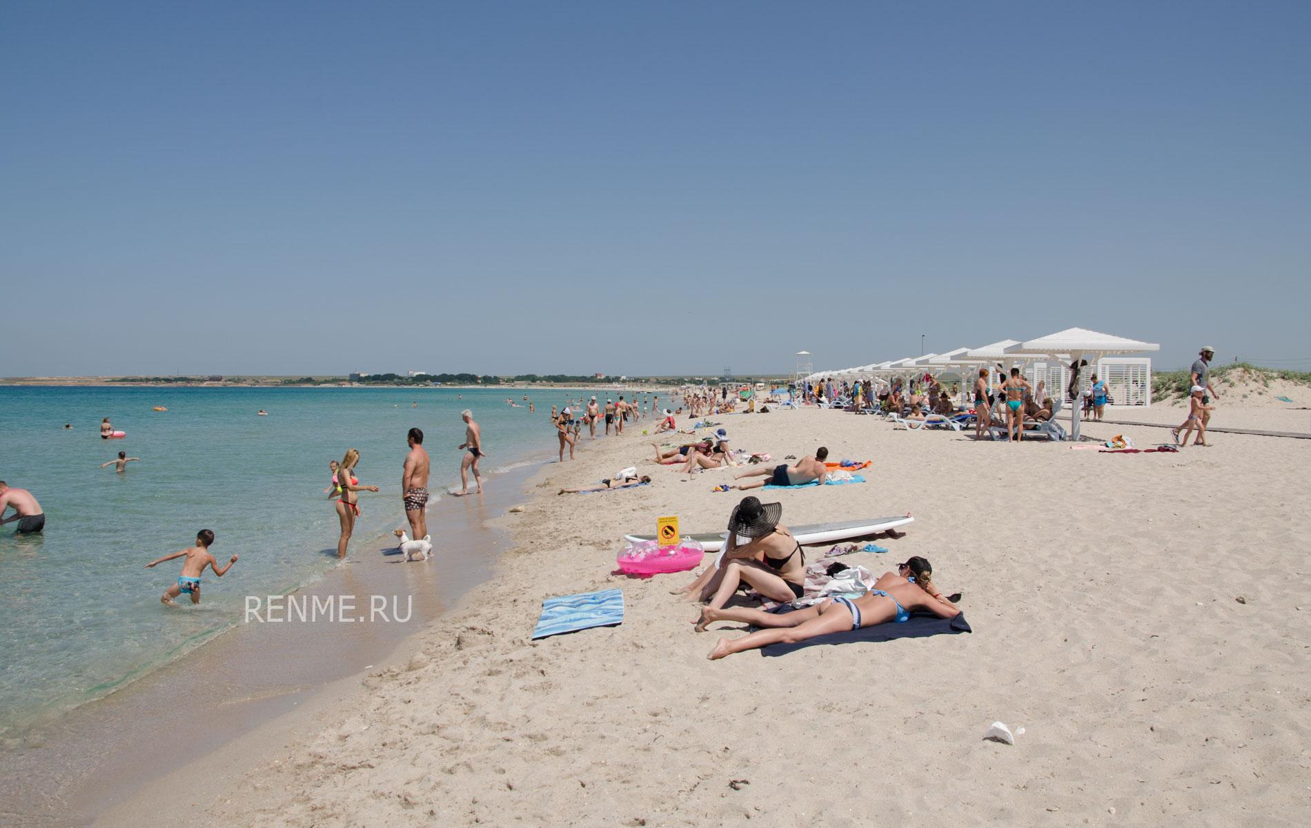 """Пляж """"Майами"""" в Оленевке, июнь 2019. Фото Оленевки"""
