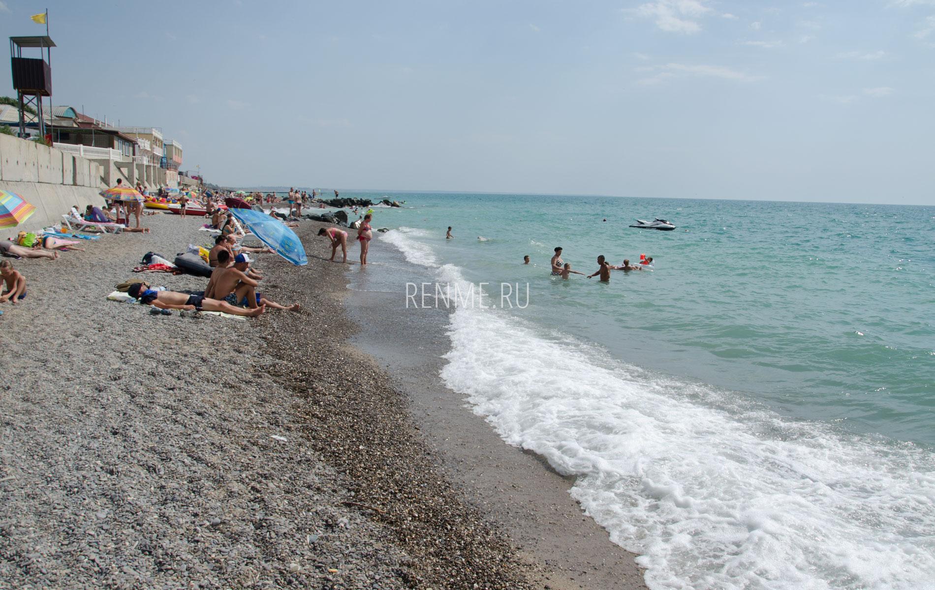 Море, галечный пляж 2019. Фото Николаевки