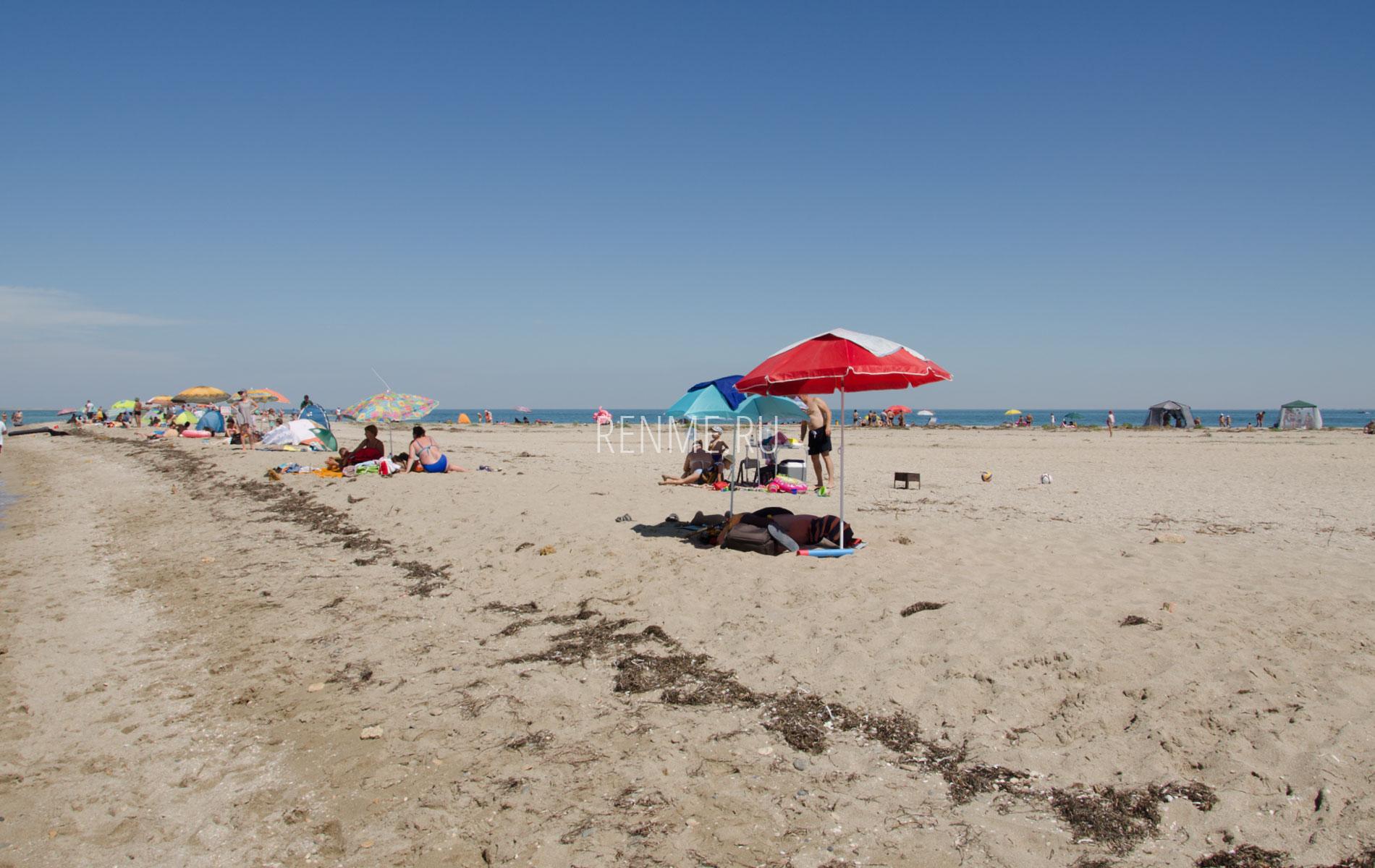 Песчаный пляж на косе летом 2019. Фото Стерегущего