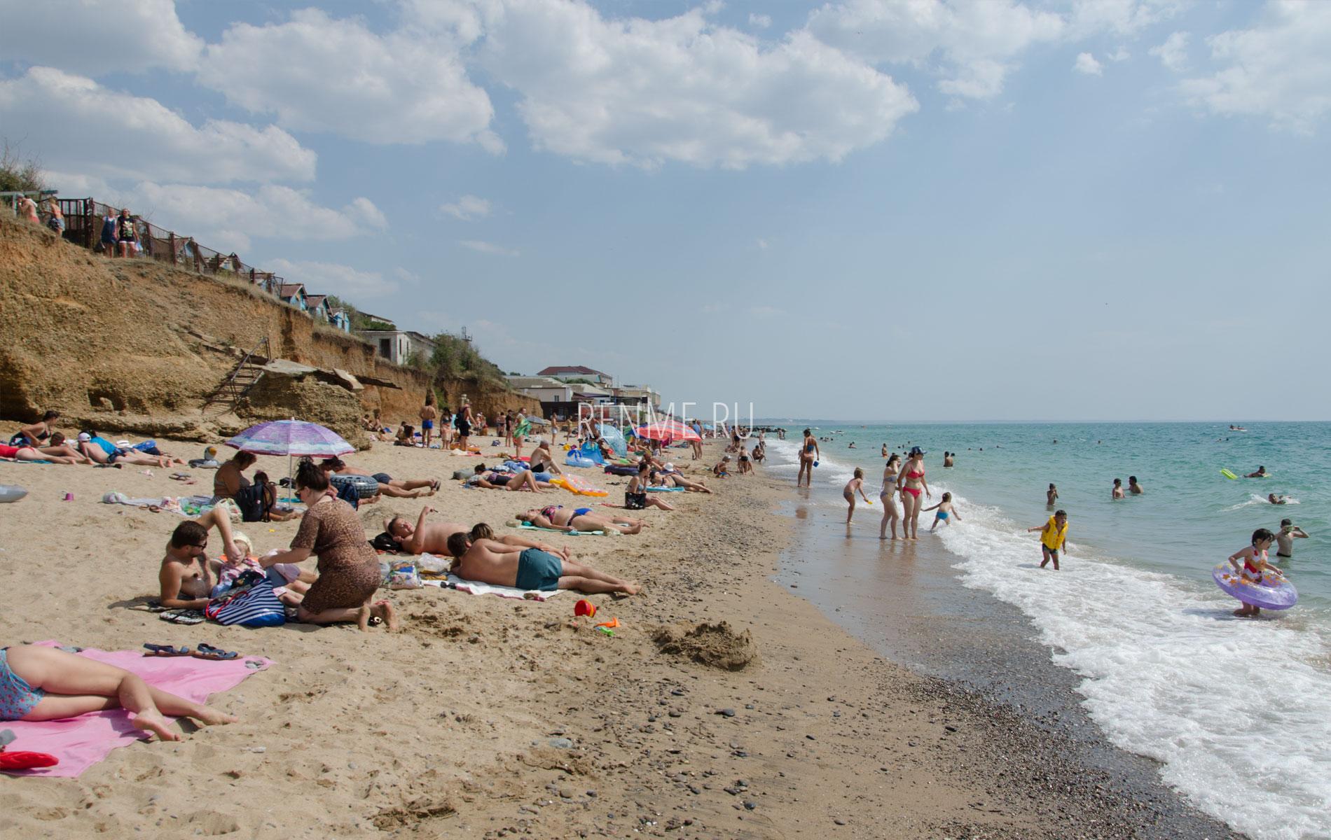 Песчаный пляж в июне 2019. Фото Николаевки