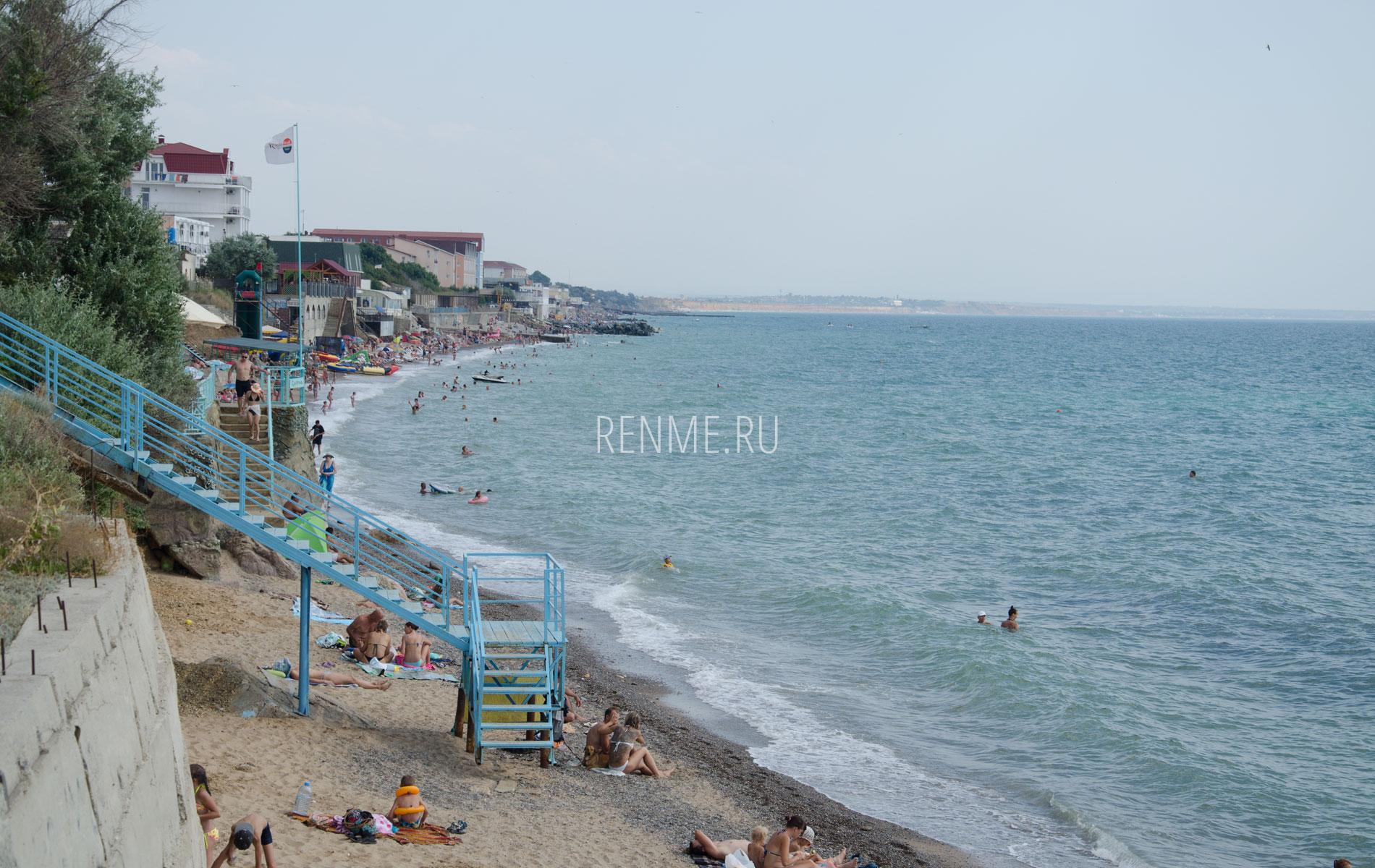 Пляжи Николаевки с высоты. Фото Николаевки