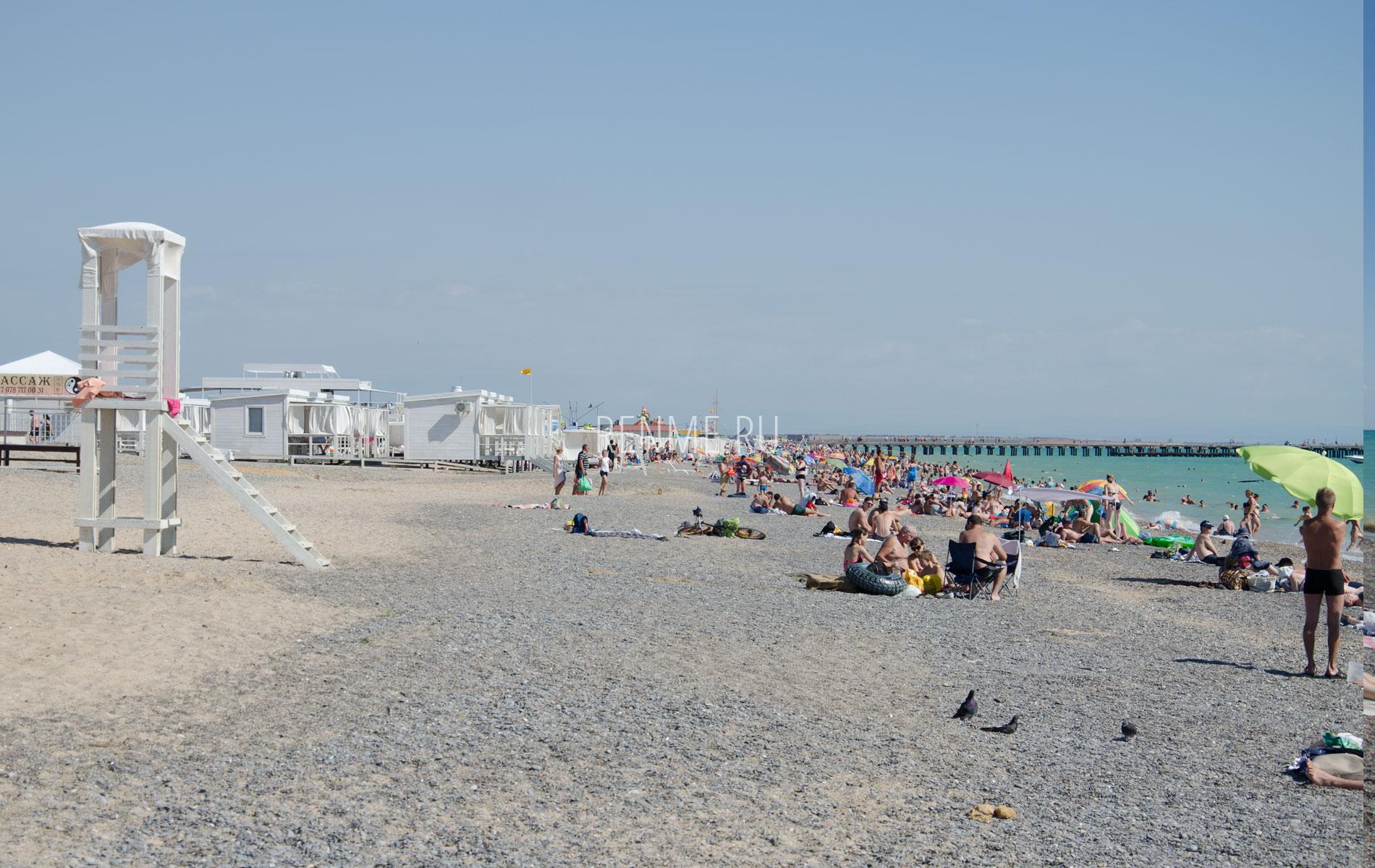 Песчано-галечный пляж Нивофедоровки. Фото Новофедоровки