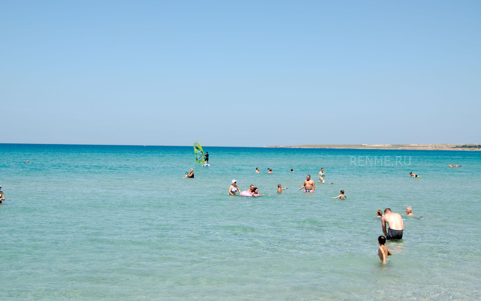Море в Оленевке. Фото Оленевки