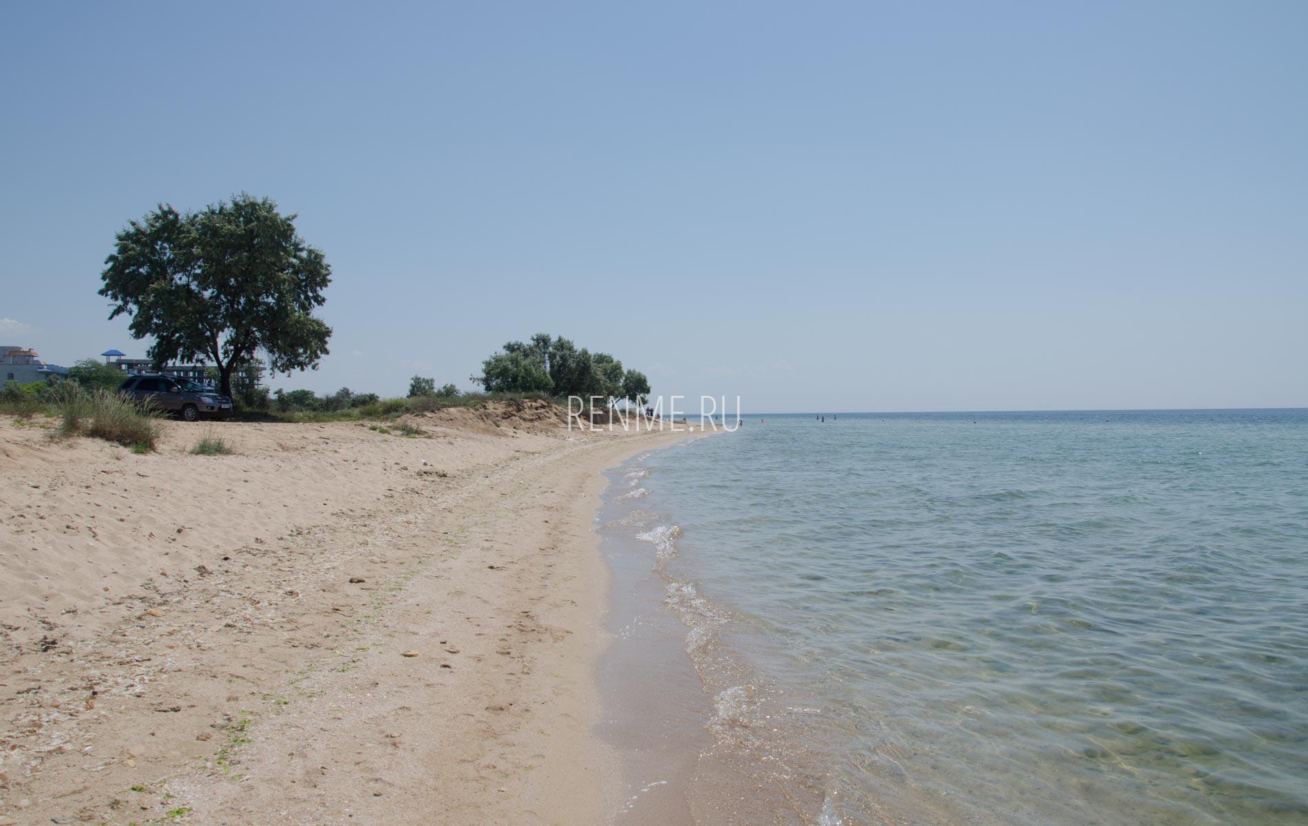 Дикий пляж Крыма на машине. Фото Заозёрного