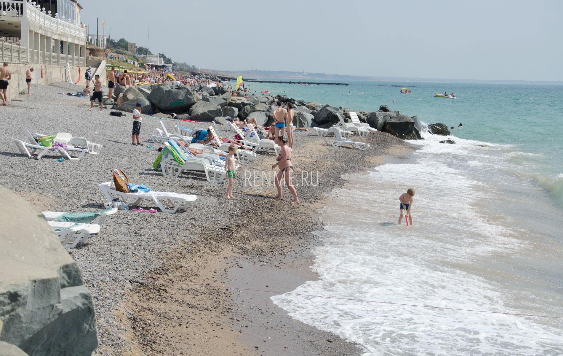 Пляж в Николаевке. Июнь 2019. Фото Николаевки