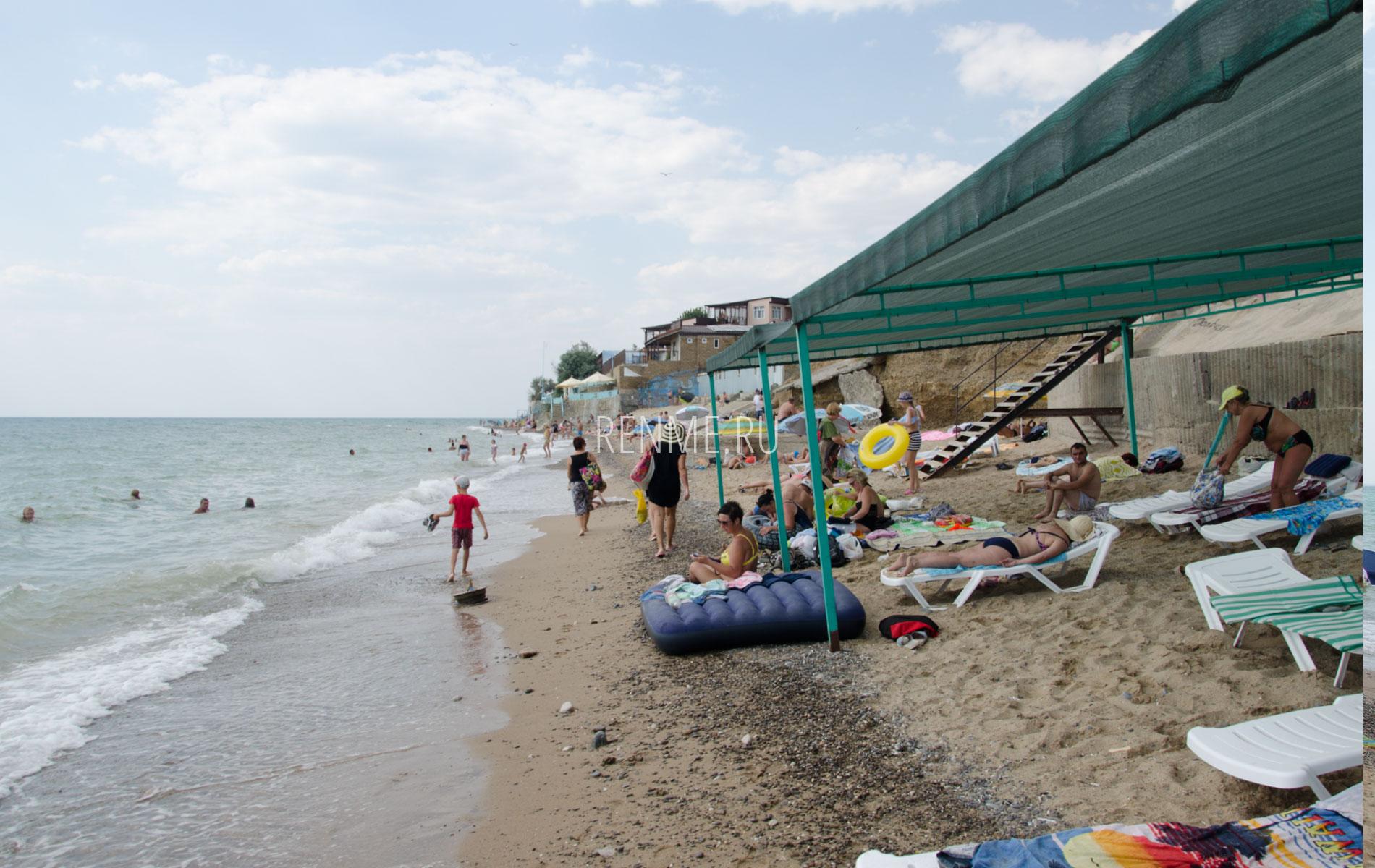 """Пляж """"Бодрость"""" в Николаевке. Фото Николаевки"""