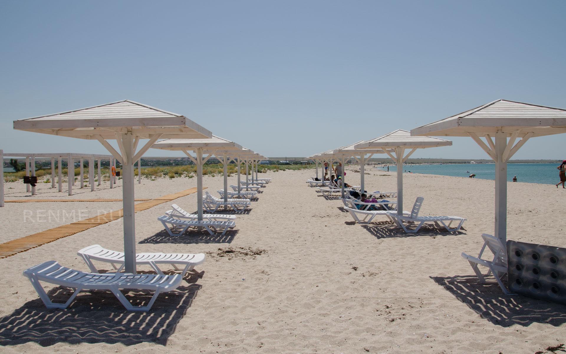 Лучшие песчаные пляжи. Фото Оленевки