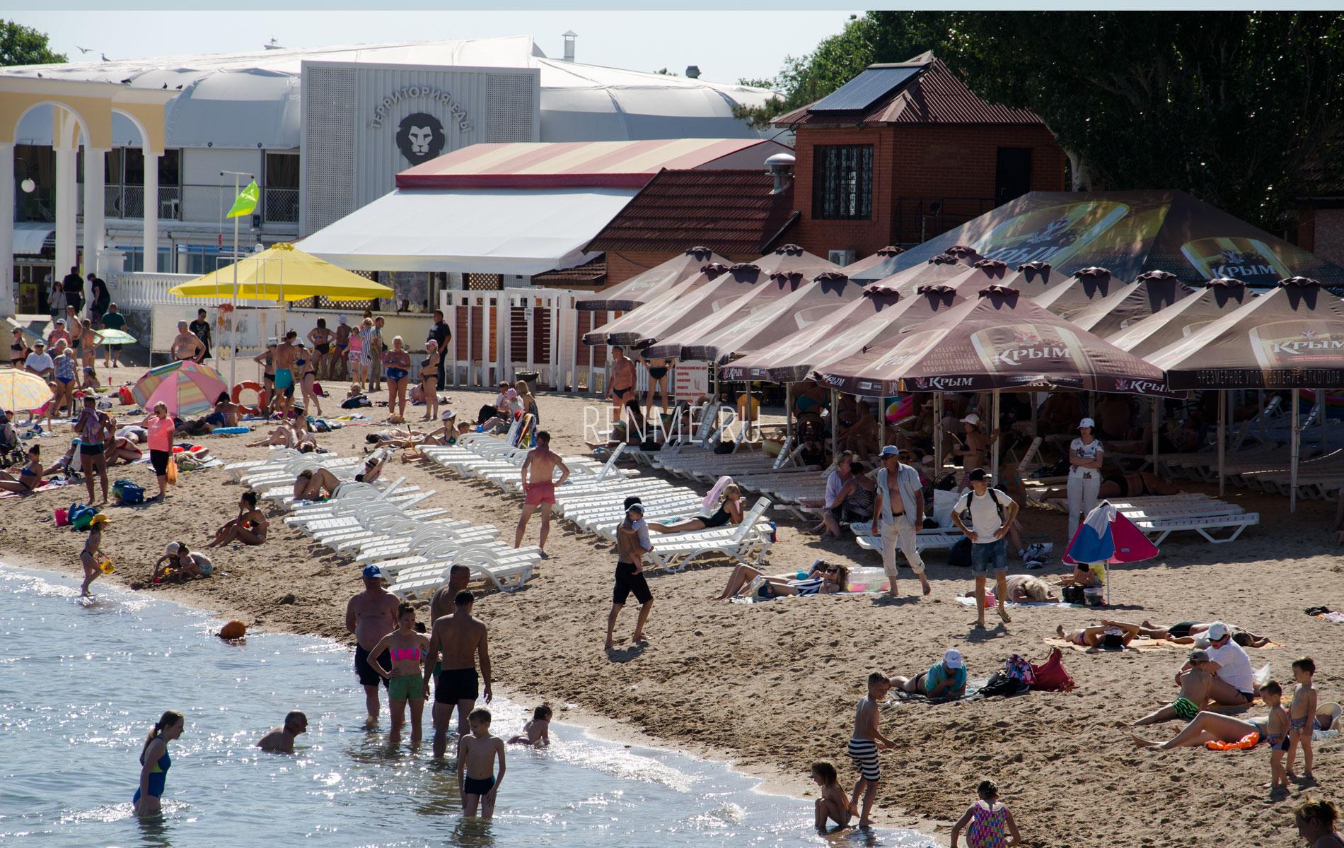 """Евпаторийский пляж """"Геркулес"""". Фото Евпатории"""