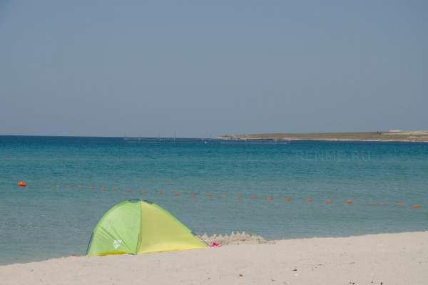 На дикий пляж Оленевке с палаткой. Фото Оленевки