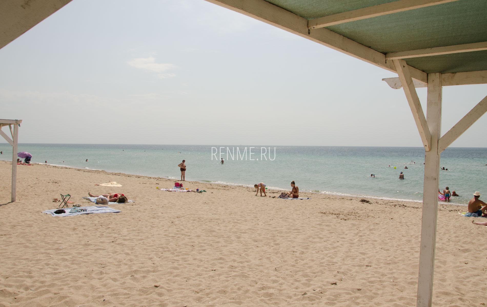 Прекрасный песчаный пляж в августе 2019. Фото Заозёрного