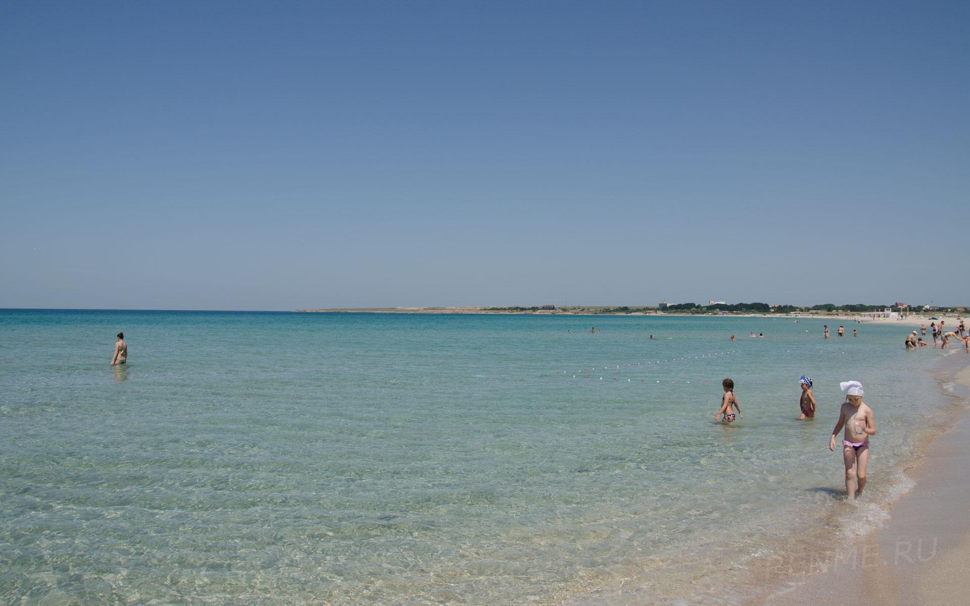 Море где лучший пляж. Фото Оленевки