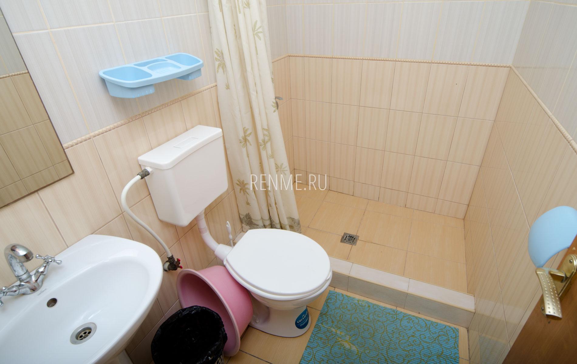 Душ, туалет. Однокомнатный коттедж. Коттеджи Заозёрного