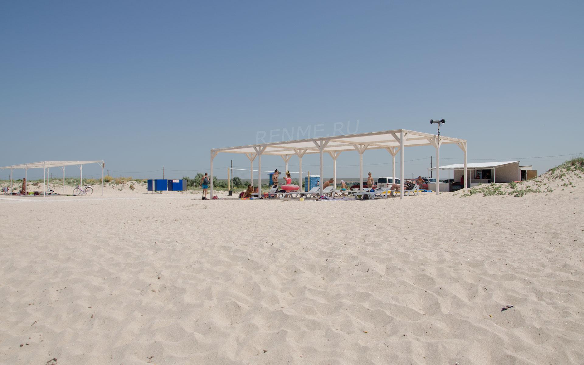 Лучший пляж в России на море. Фото Оленевки