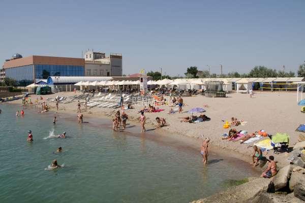 """Пляж """"Ribera"""". Пляжи Евпатории"""