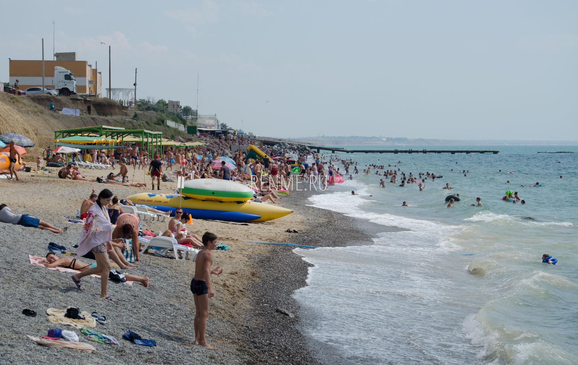 """Пляж """"Горняк"""" в июле 2019. Фото Николаевки"""