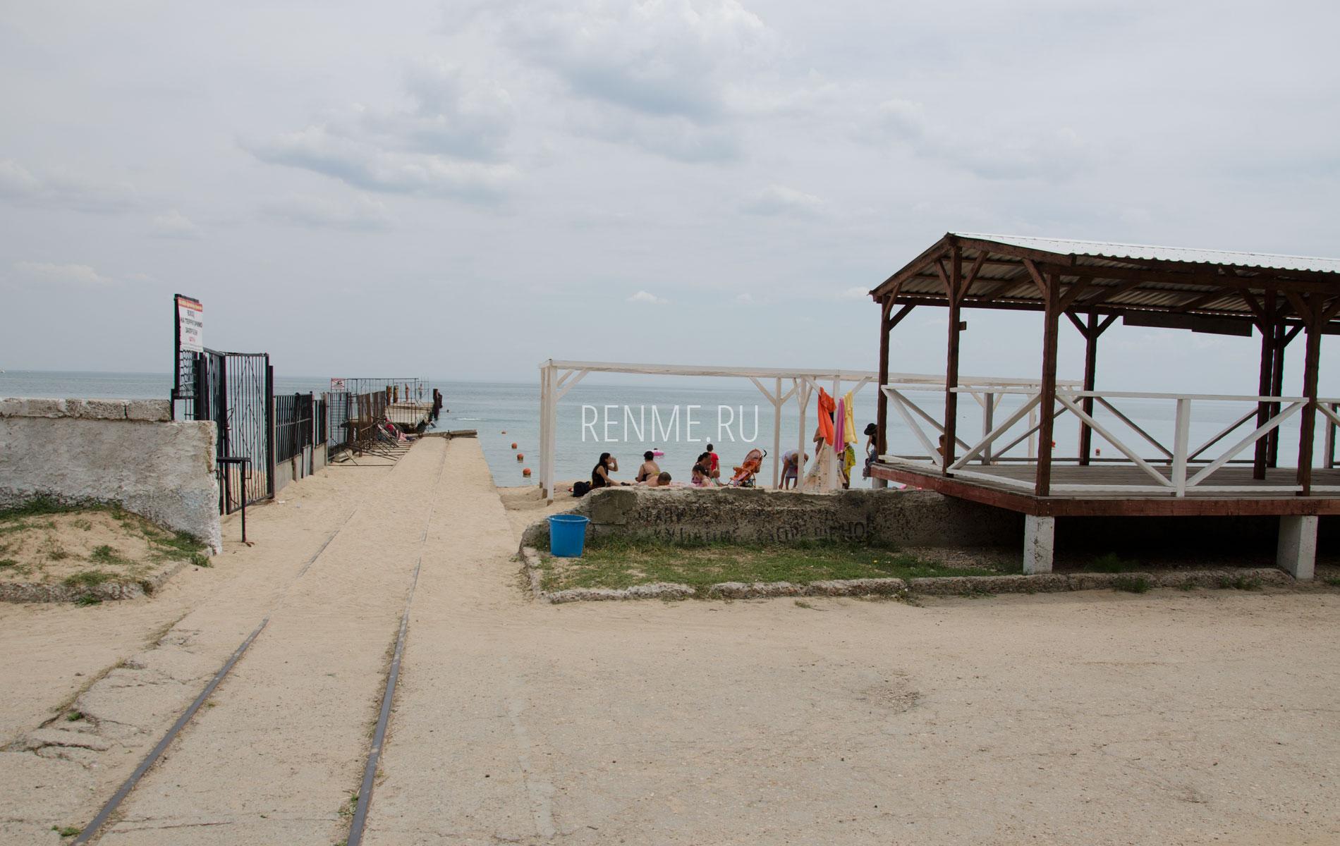 Альтернативный вход на пляж. Фото Заозёрного