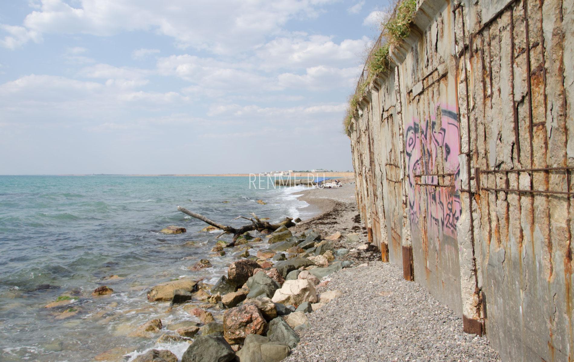 Размытый Берег моря. Фото Николаевки