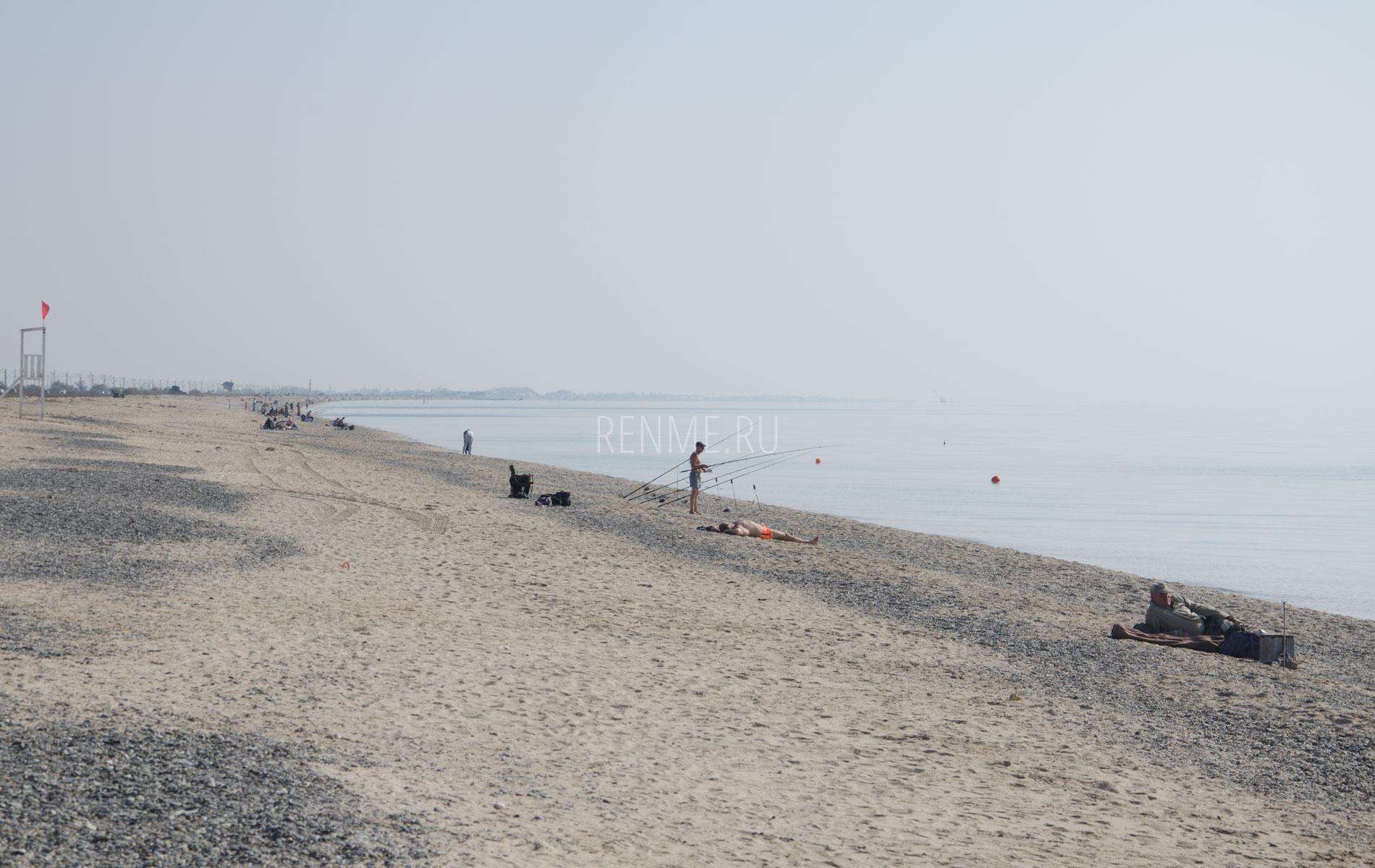 Осень 2019 на пляже Евпатории. Фото Евпатории